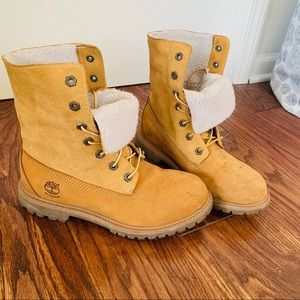 Timberland Teddy Fleece Fold-Down Waterproof Boot